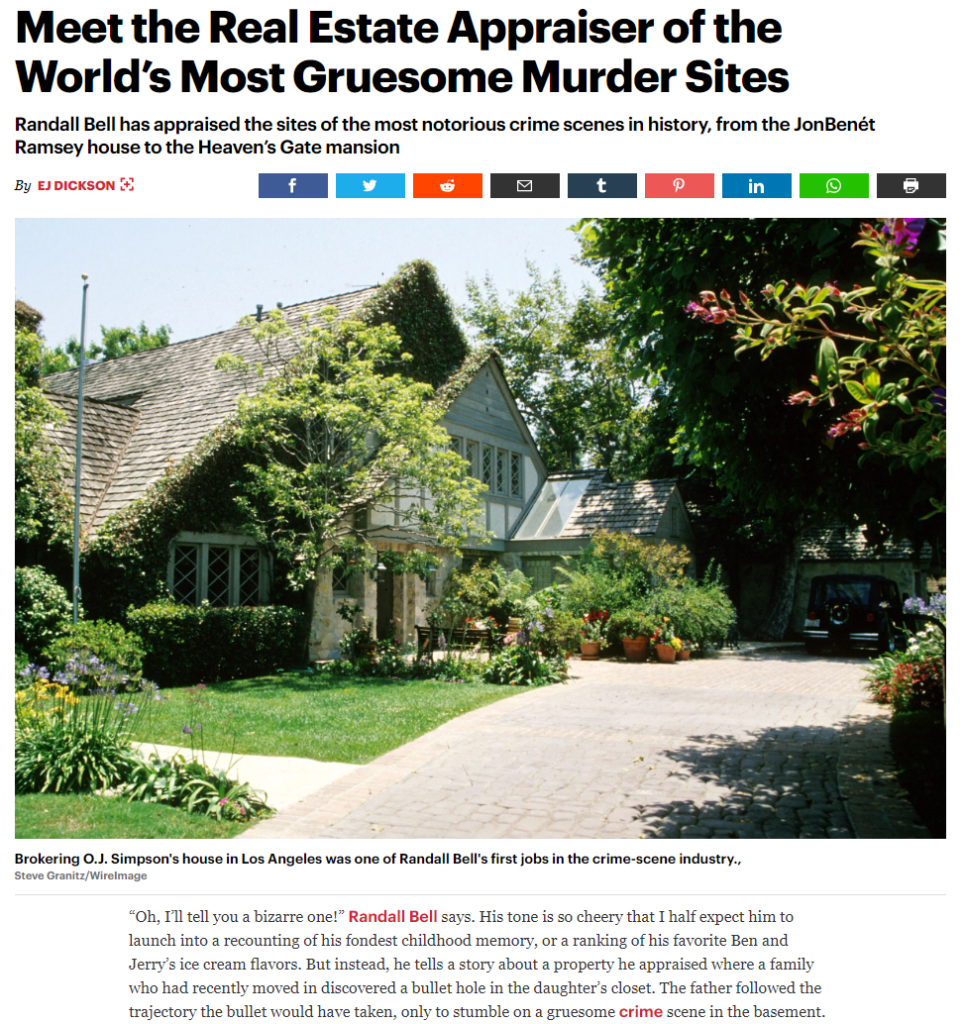 Rolling Stone article about the real estate appraiser of the world's most gruesome murder sites